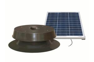Natural Light 30 Watt Solar Attic Fan with Remote Mountable Panel - Bronze